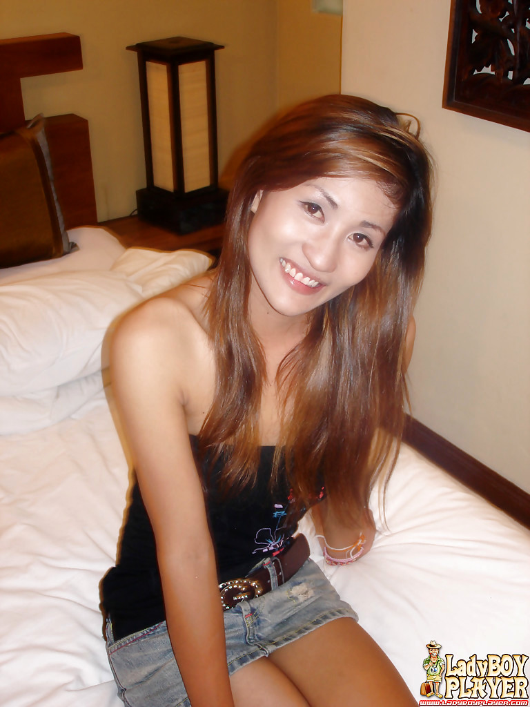 Barely Legal Thai TGirl Pookie Wanking Enormous Hairy Dick