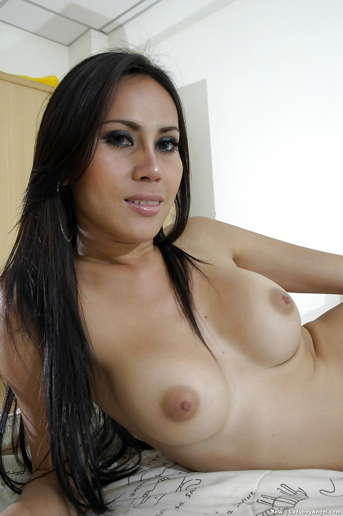 Beautiful And Skinny Asian Tgirl Bow Flashes Her Massive Breasts In The Bedroom