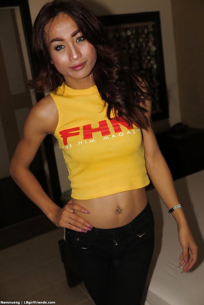 Beautiful Hung Thai TGirl Namnueng Getting Her Creamy Butt Stuffed