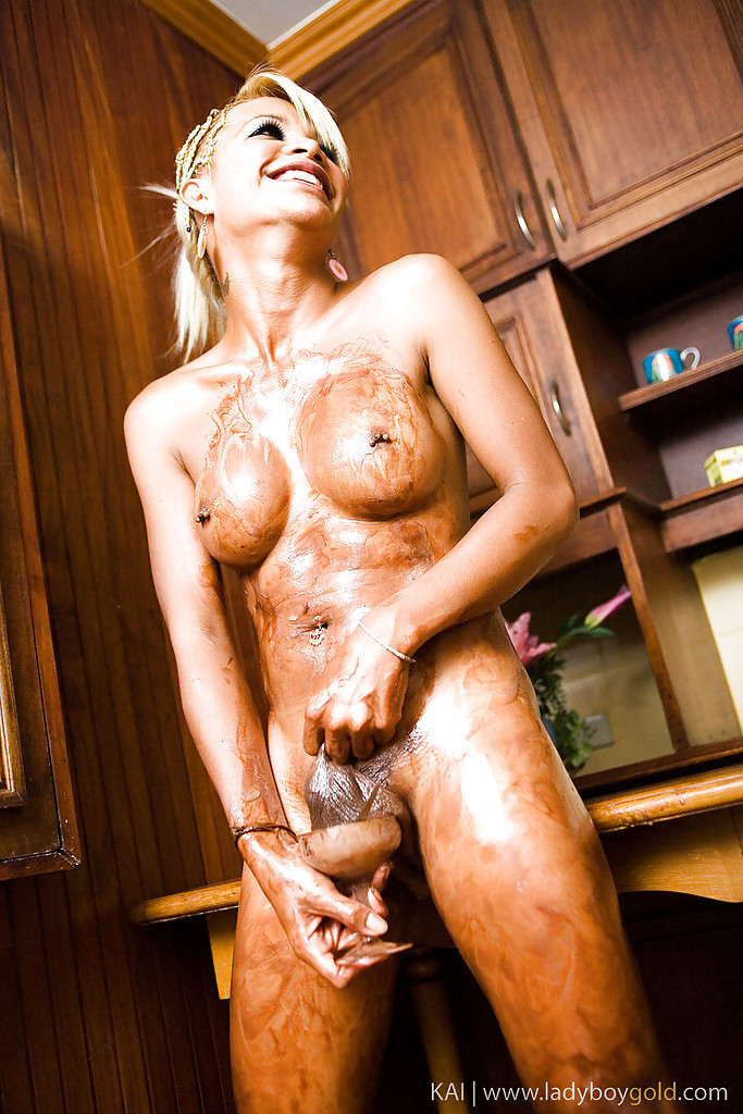 Blonde Asian Tgirl Kai Wanking In A Really Hungry Way