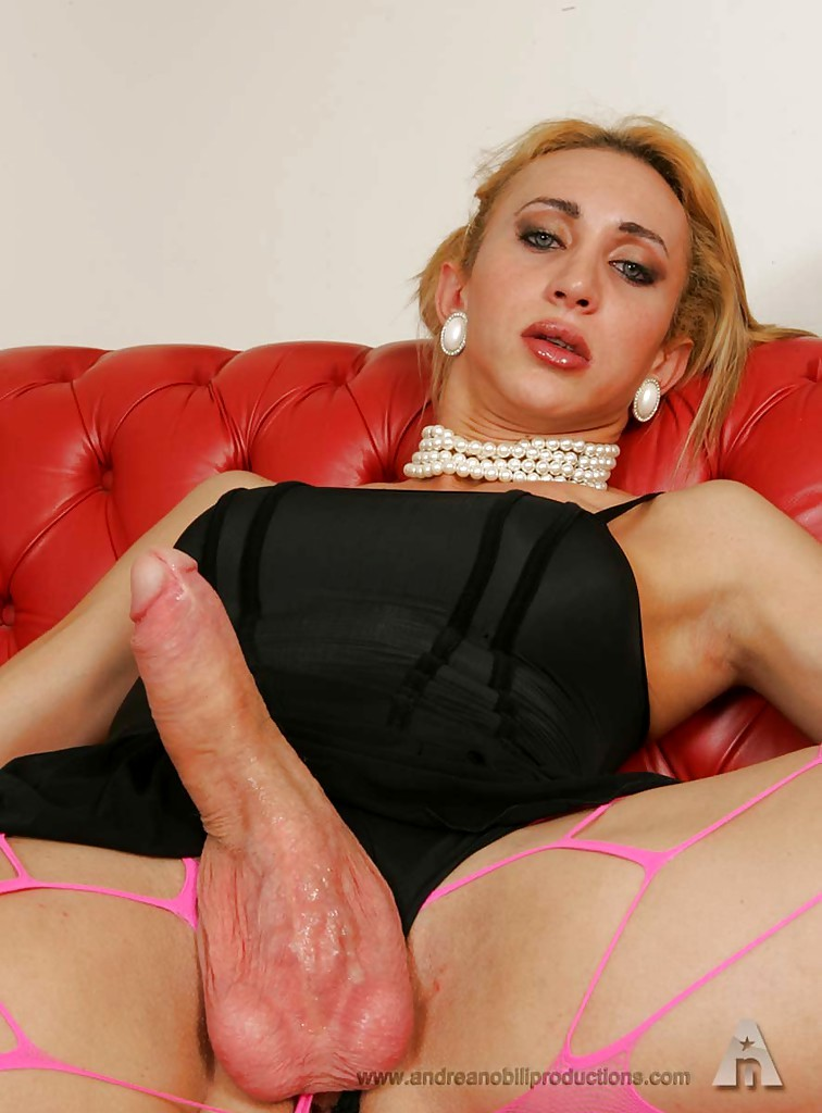Blonde Huge Tool Ladyboy With Perky Tits Violating A Guy's Tiny Bum