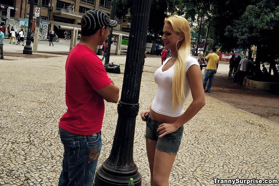 Blonde TGirl Evelin Rangel Getting Asshole Smashed After Giving A Blowjob