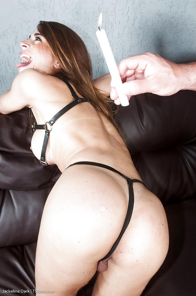 Bound Latina Shemale Jackeline Dark Offering Perfect Bum For No Condom Anal Sex