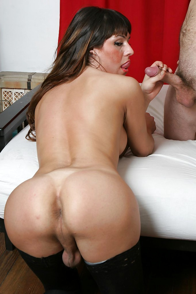 Brunette Transexual Kiara Has Huge Tits And An Appetite For Penis Eating Cock