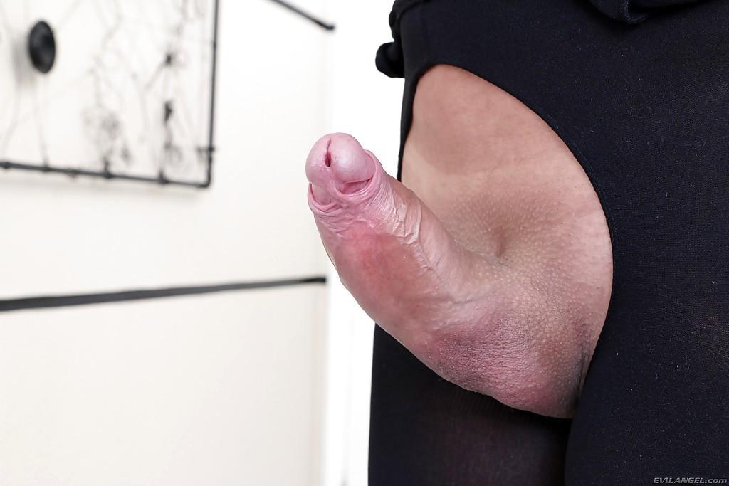 Busty Blonde TGirl Nicole Bahls Barebacking A Man's Ass-Hole