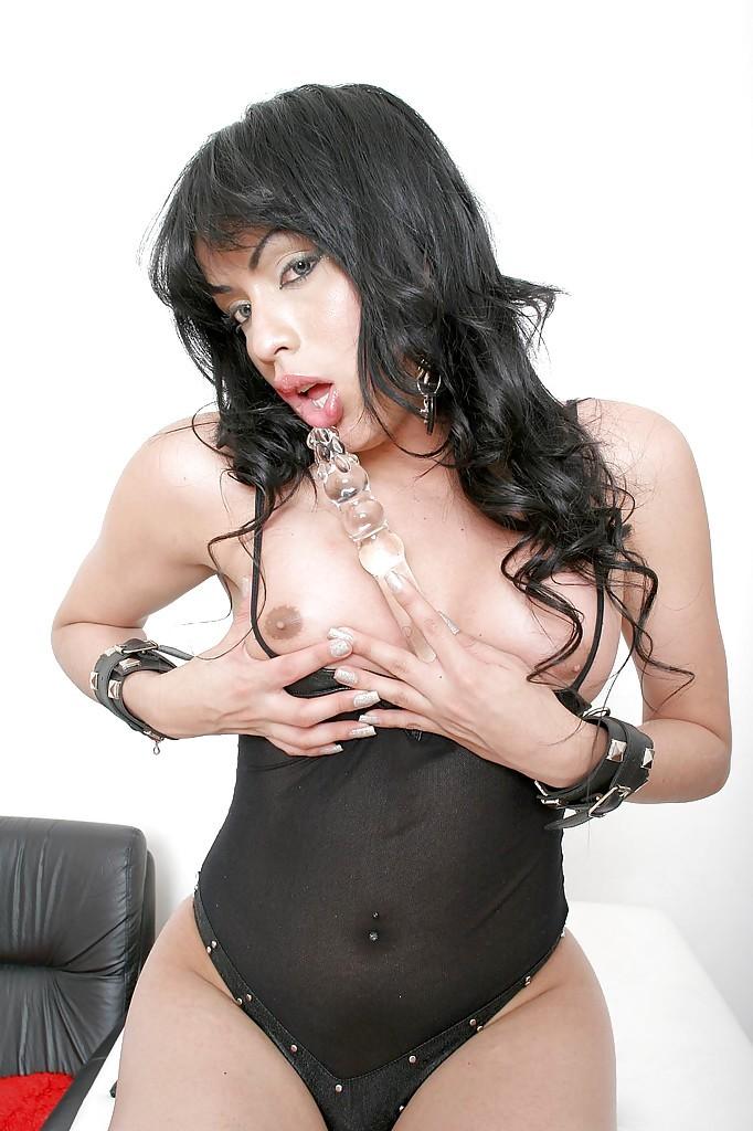 Busty Latina Tranny Marbella Using Large Toy On Ass-Hole While Jacking