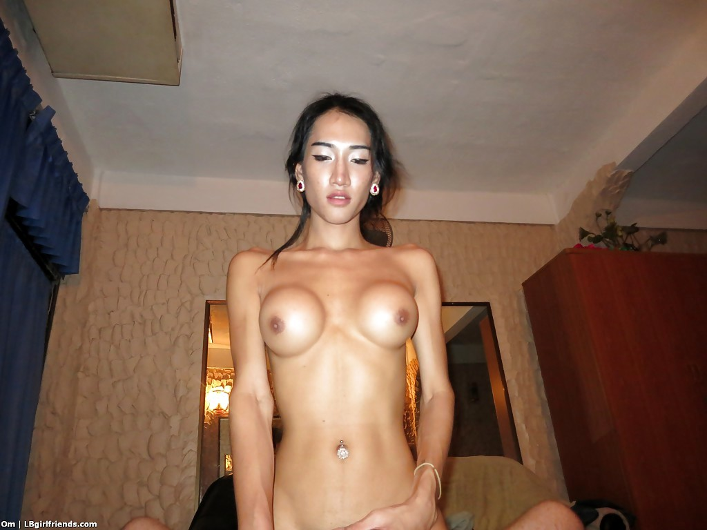 Busty Thai T-Girl Om Eating Dick Penis And Taking Bare Back Anal Pounding