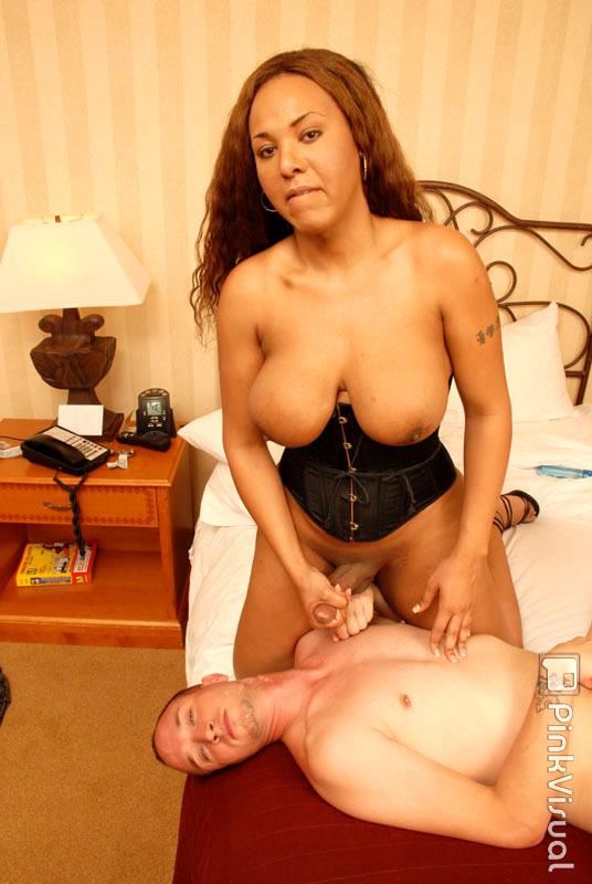 Curvy Ladyboy Courtney Cokks Licks Man's Anus And Bum Bangs Him Too