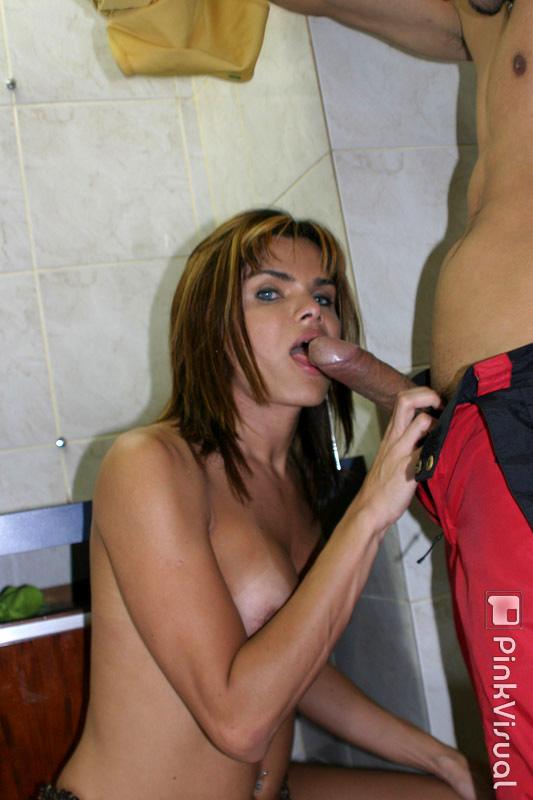 Curvy Latina Ladyboy Hilda Brasil Taking Cumshot On Massive Tits