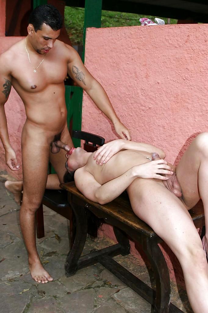 Curvy Latina TGirl Tatiana Torres Eating Dick A Thick Penis Passionately