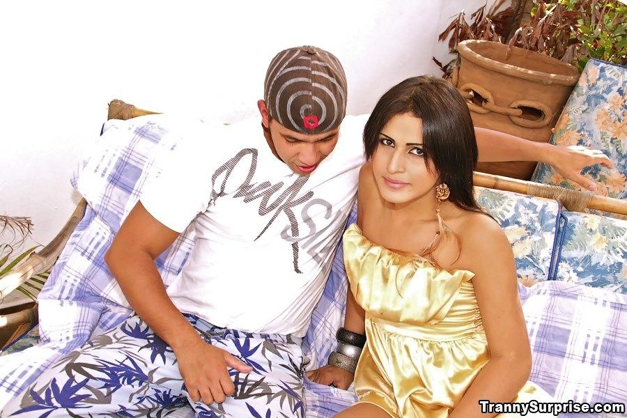 Cute Ladyboy Bruna Ninfa Posing Nude And Taking Anal Sex From Guy
