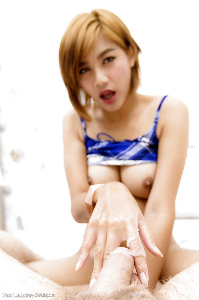 Cute Short Haired Thai Femboy Visa Flashing Perfect Breasts Before Giving Bj