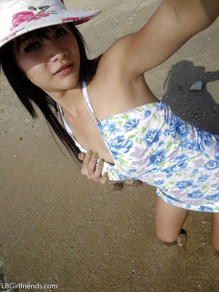 Cute Slim Thai Tgirl Mon Posing Outdoors And Showing Her Penis
