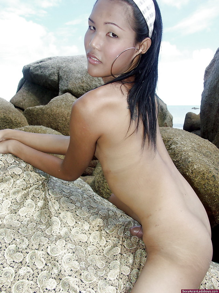 Cute Small Shemale Flashing Her Mouth Watering Rough Tool Outdoors