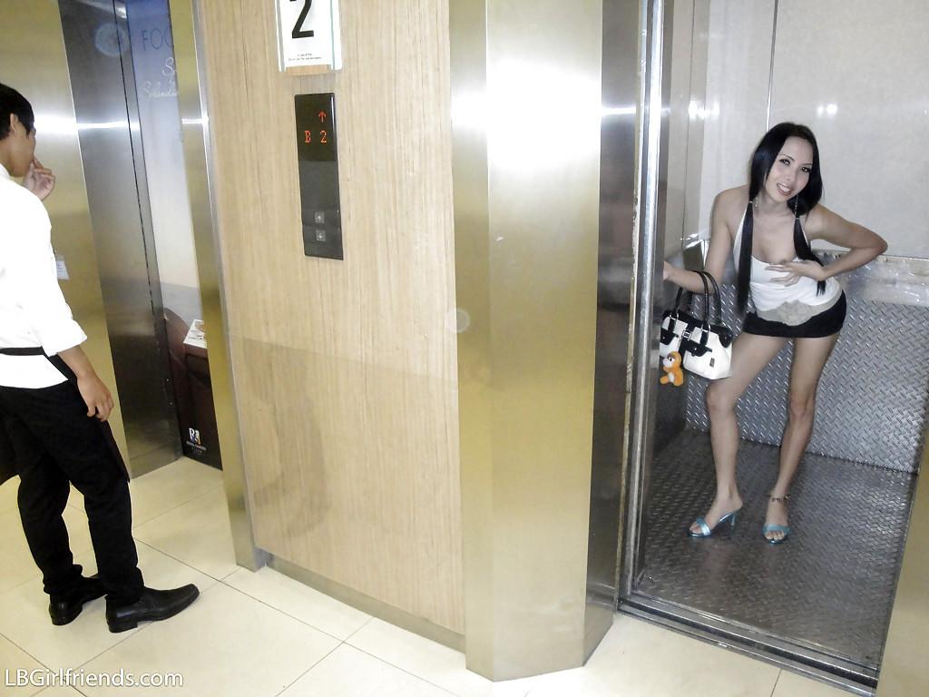Cute Teen Thai T-Girl May Posing In High Heels And Masturbating Her Tool