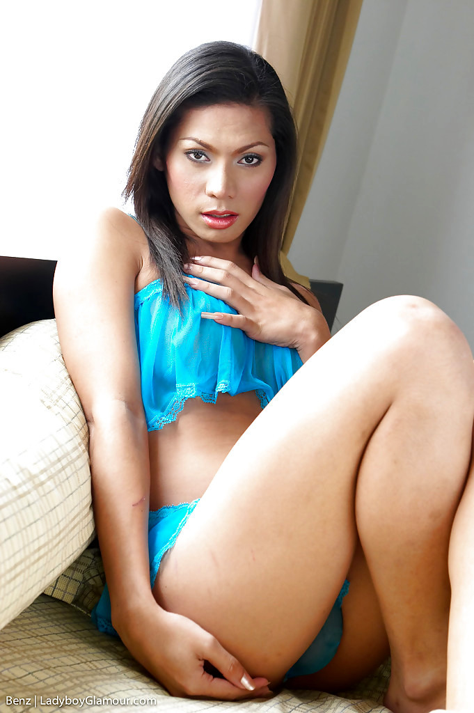 Cute Thai Tgirl Benz Sowing Off Her T-Girl Tool And Lovely Asshole