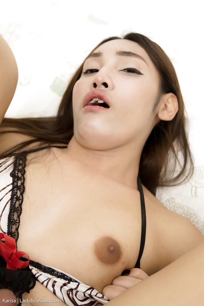 Cute Thai TGirl Karisa Taking Anal Creampie After Bare Back Ass-Hole Banging