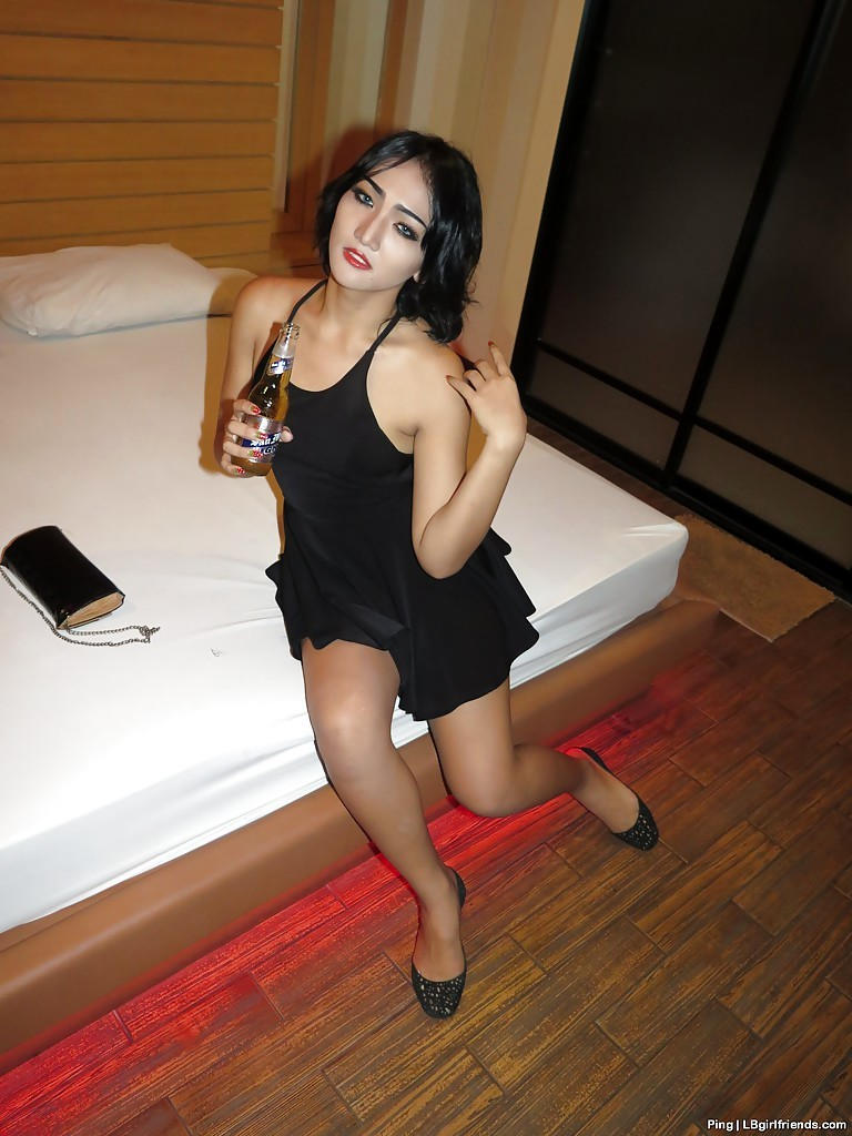 Drunk And Starved Thai Tgirl Teen Ping Giving A Blowjob And Nailing