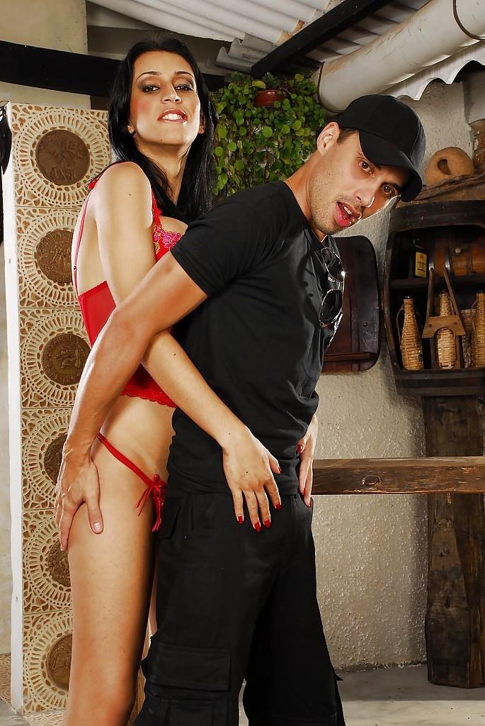 Enormous Boobed Latina Ladyboy Barbara Vasconcellos Asshole Nailing A Stud