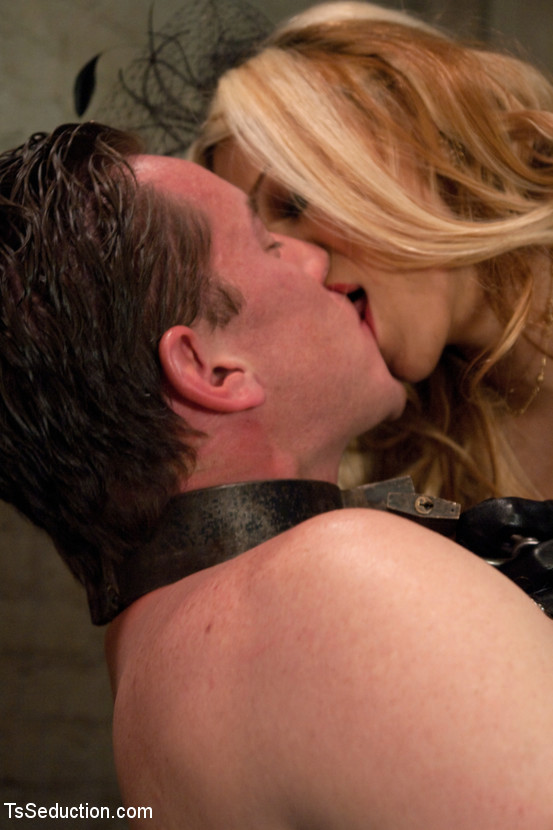 Filthy BDSM Loving T-Girl Paris Getting Starved With Her Gay Sex Slave