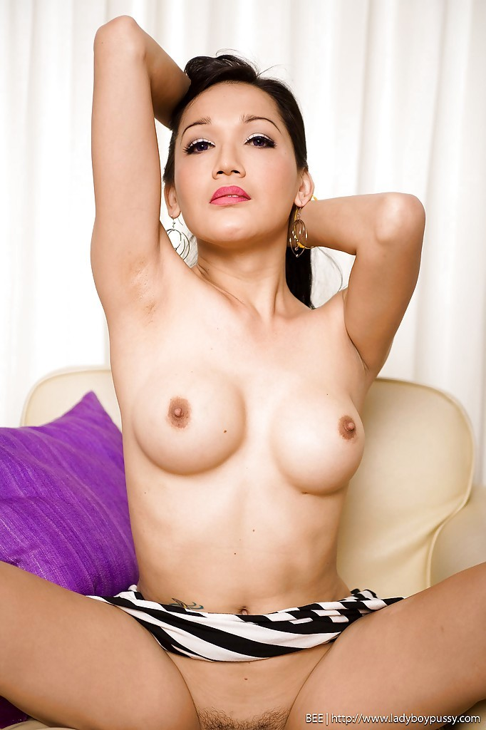 Gorgeous Thai Tgirl Bee Sticking A Massive Vibrator Up Her Tight Wet Pussy