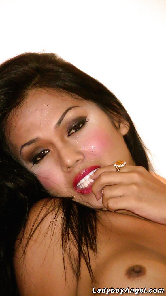 Gorgeous Thai Tgirl Transexual Amy Removes Bikini And Sari For Nude Posing