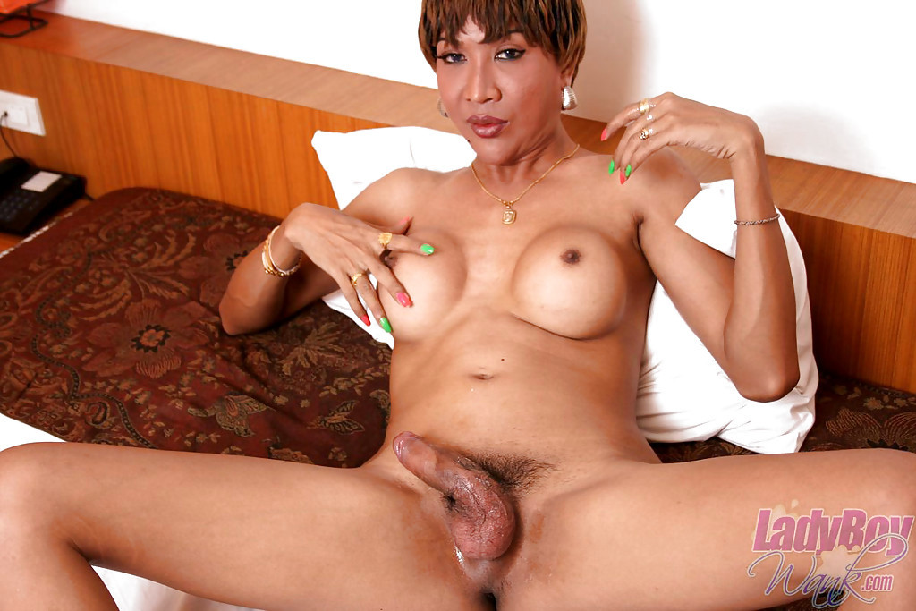 Gorgeous Thai Transexual Oa Jerking Her Dick And Playing With Her Breasts