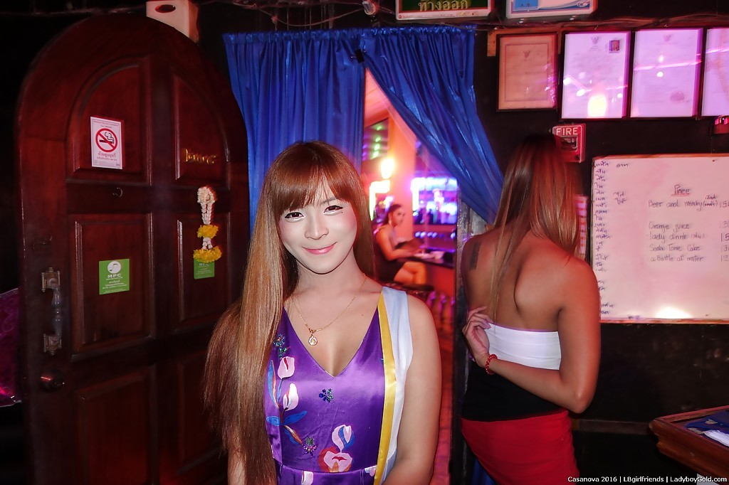 Group Of Non Nude Thai TGirls Flirt And Tease In Public