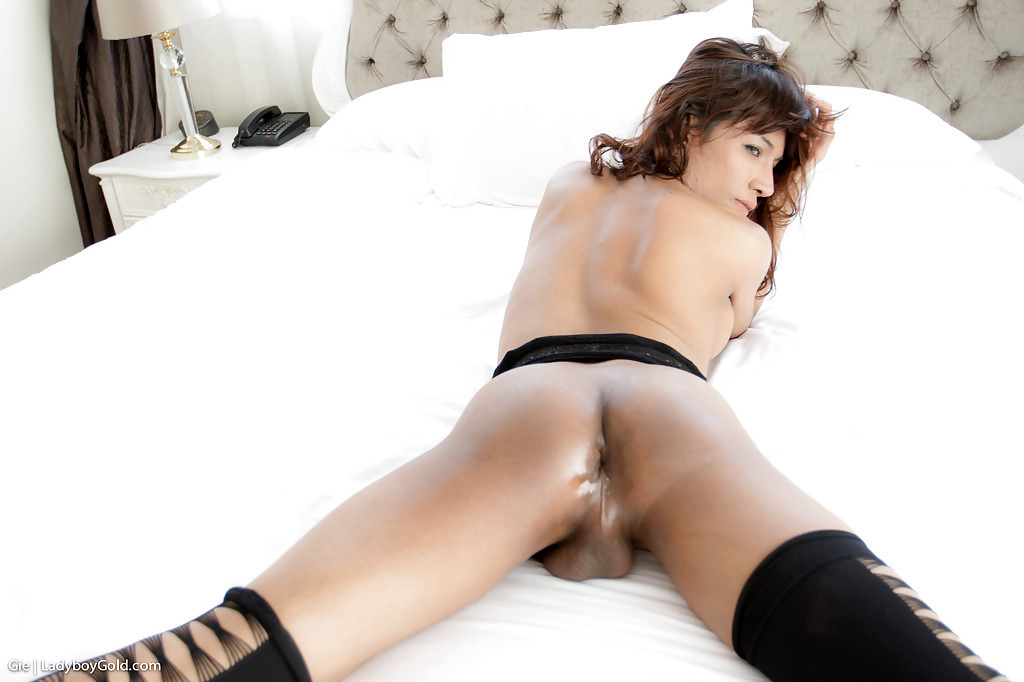 Hung Tgirl Gie Takes A Large Bare Back Tool Pounding Of Nasty Butthole