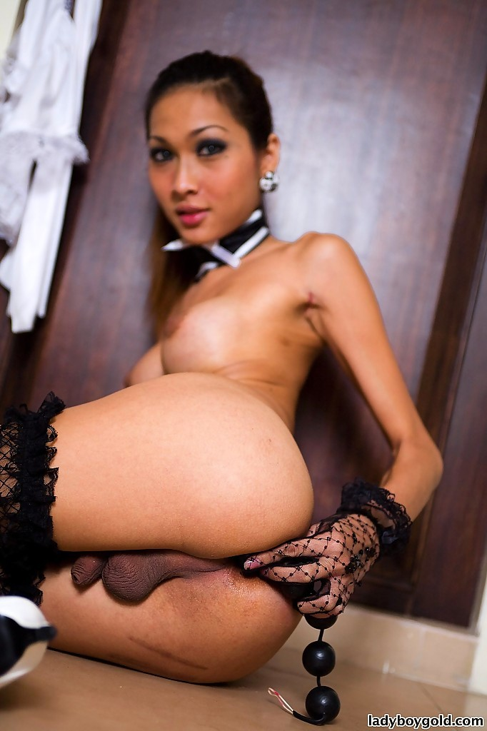 Hungry Thai Transexual Yoyo Is A Dirty Hooker In A Maid's Uniform