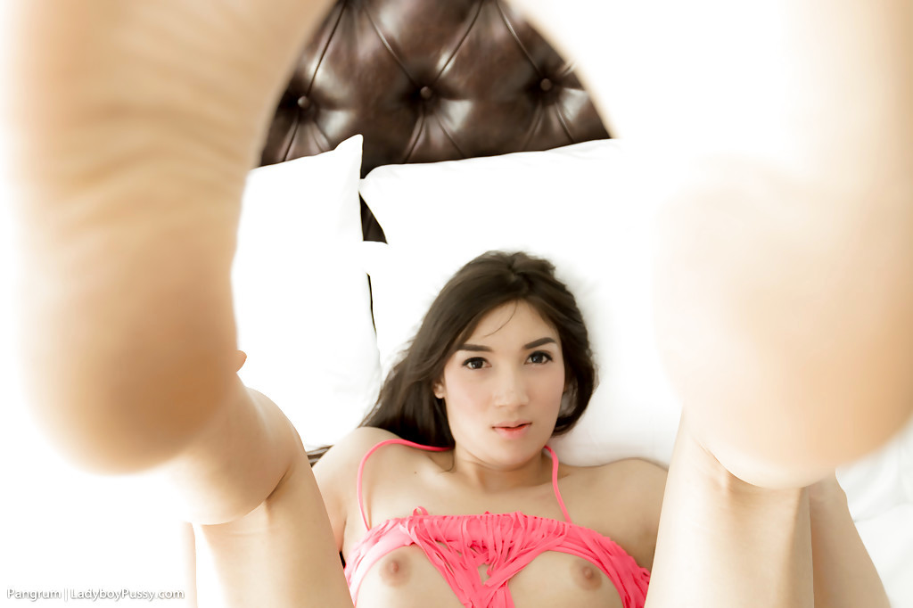 Innocent Young Thai Tgirl Pangrum Spreading Her Tight TGirl Pussy