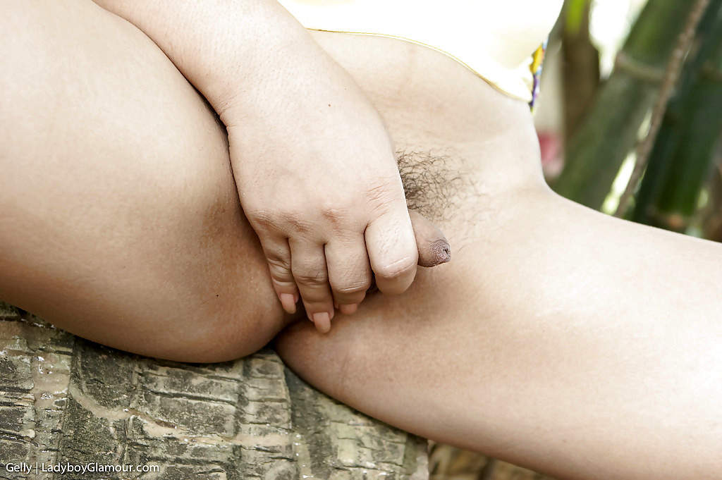 Kissable Thai Transexual Gelly Stripping And Showing Her Hairy Dick Oudoors