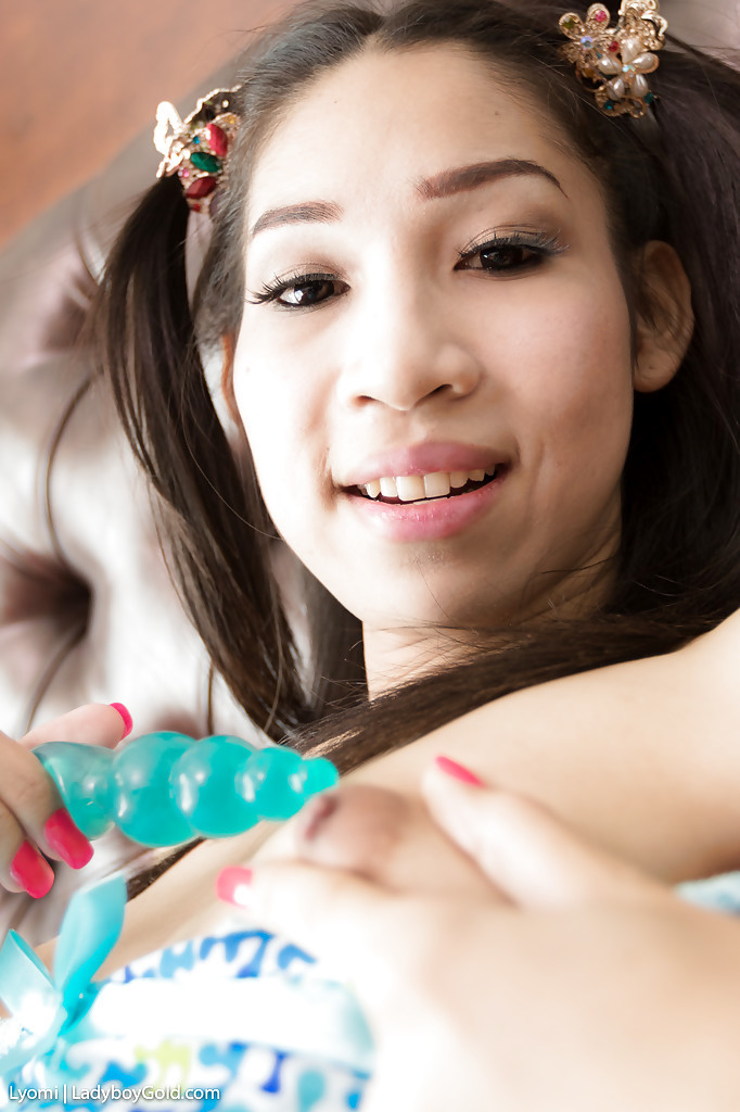 Little 18 Year Old Thai T-Girl In Pigtails Lyomi Taking No Condom Anal