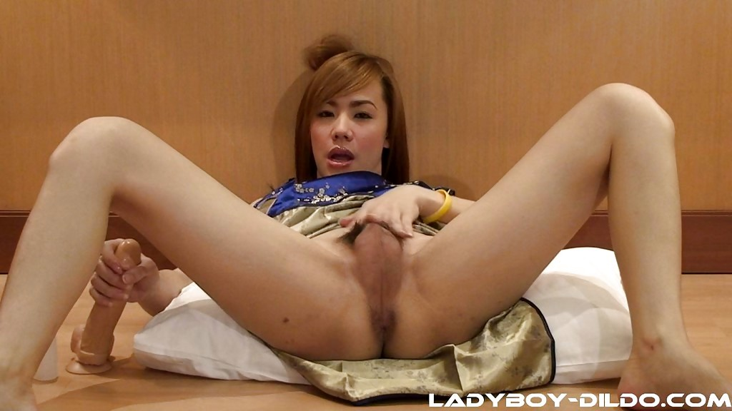 Little Penis Brunette Asian Transexual Amy Stroking Her Penis And Spreading