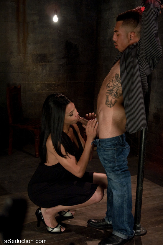Lustful Thai Tgirl Alyssa Hung Getting Her Meaty Dick Slobbered On