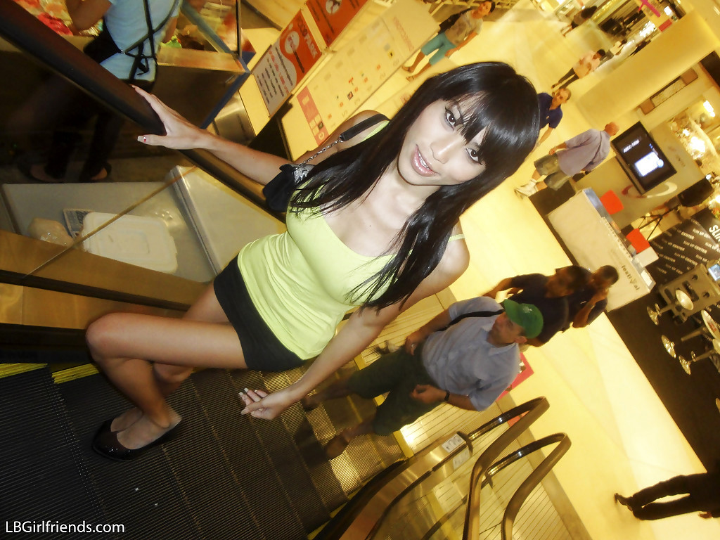 Massive Tit Thai Tgirl Fon Posing Outdoors And Flashing Her Breasts In Public