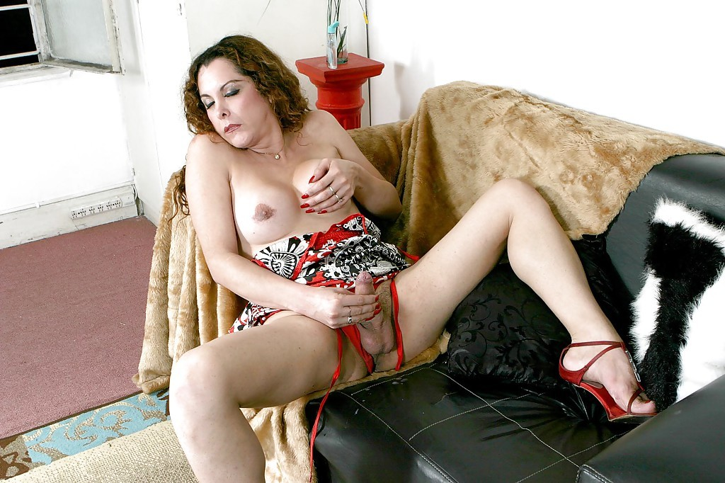 Mature Ladyboy Camila Whips Out Her Hairy Shecock And Jacks Off