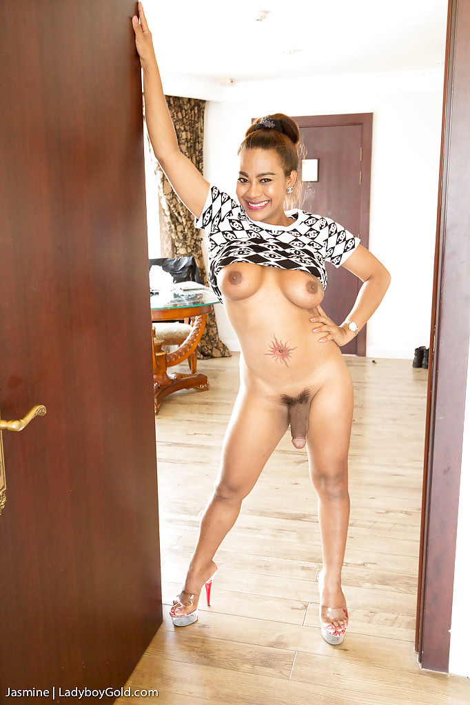 Mature Thai T-Girl Jasmine Showing Off Her Enormous Rod And Nailing Rough