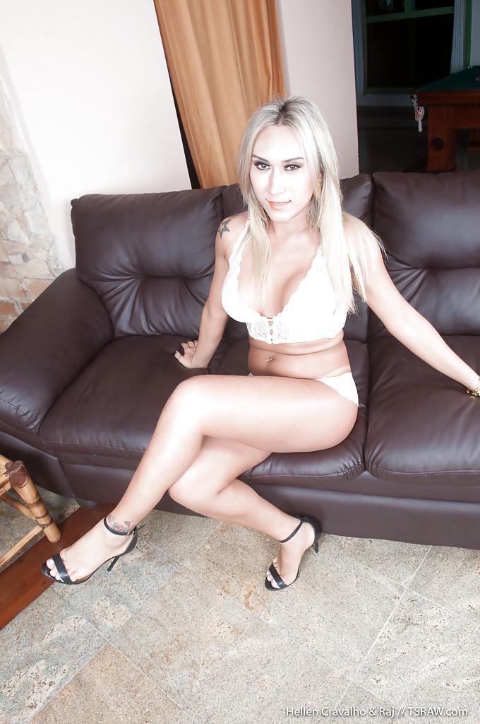 Nasty Tgirl Hellen Carvalho Doing Her Boss In The Living Room