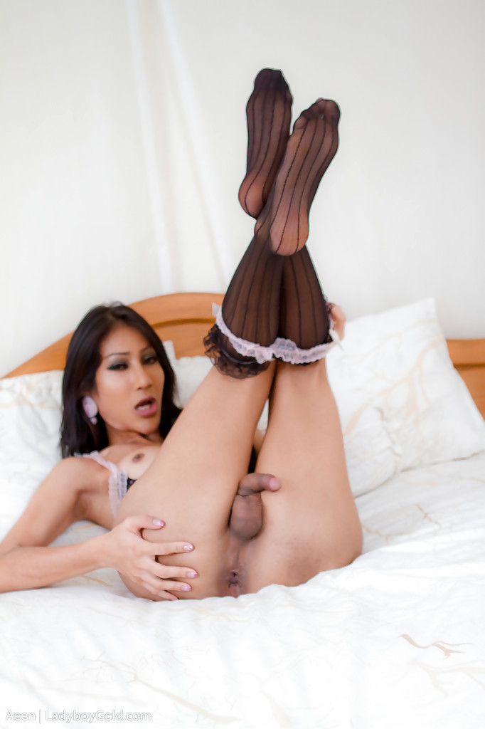 Nice Asian Femboy Aeen Strips Off Spicy Panties For Penis Masturbating Time