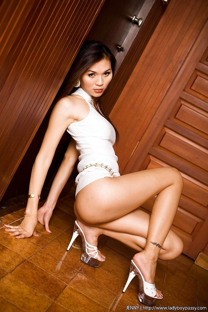 Nice Thai Tgirl Jenny Posing And Fingering Her Sensual Tight Pussy