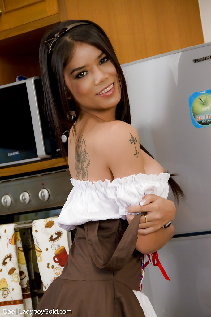 Perfect Asian Shemale Dao Is The Hottest Post Op Trans Maid Ever