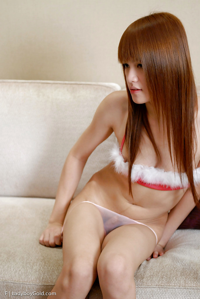 Petite Asian TGirl F Stroking Her Tinie Hairy Cock And Posing