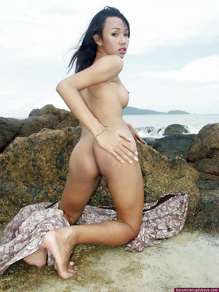 Seductive And Busty Asian Femboy Slim Dipping On A Phuket's Beach