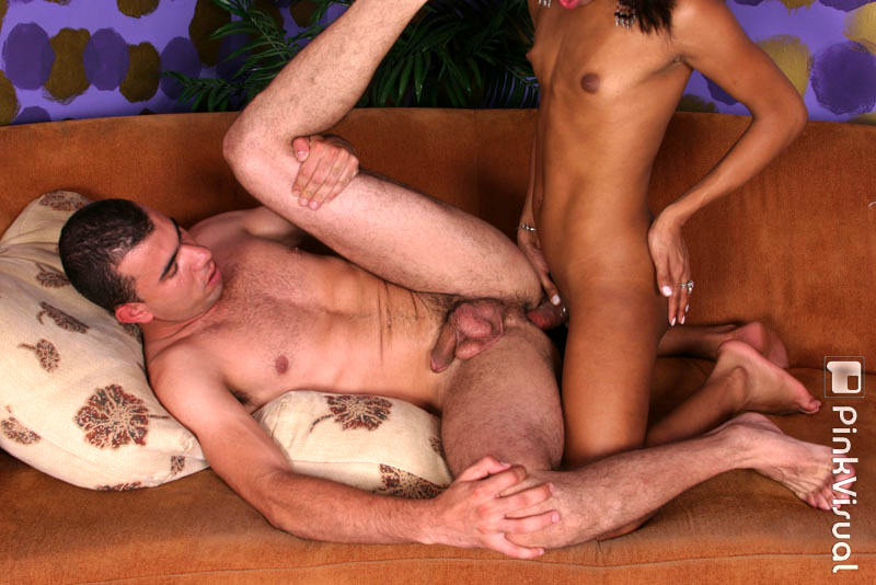 Sensual T-Girl Marcinha Gives Wicked Blowjob And Asshole Nailing To Dude