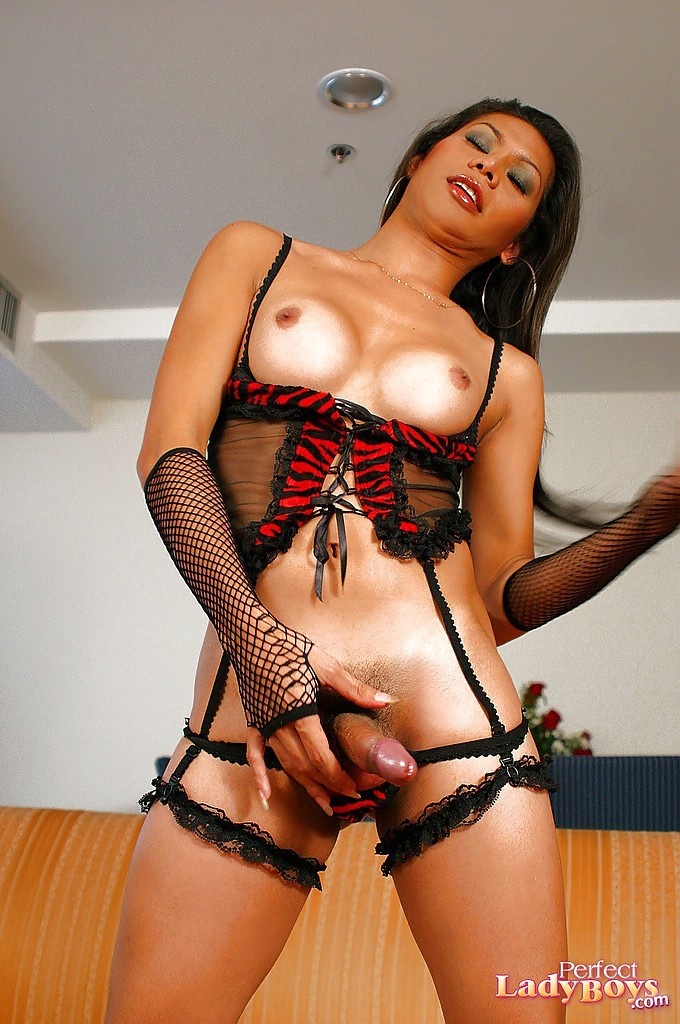Shaved Thin Thai Femboy Benz Touching Herself And Posing In Heels