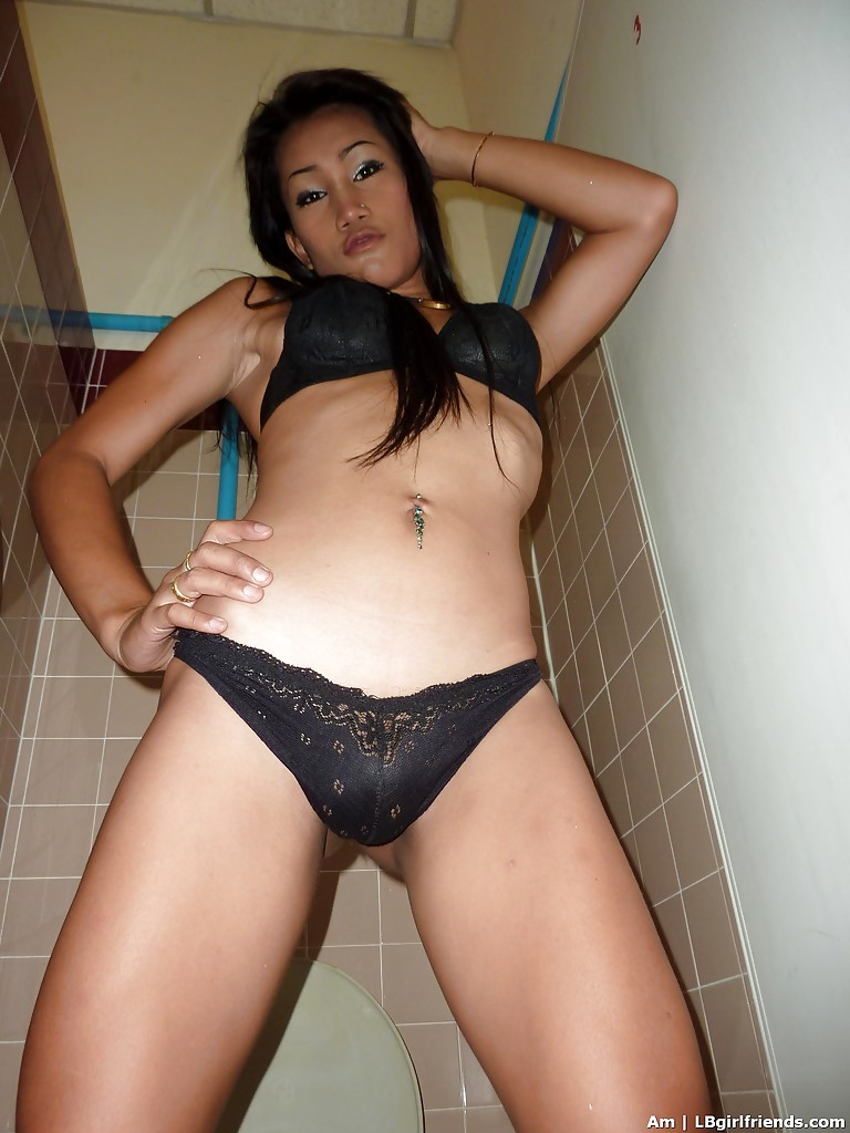 Slender Asian TGirl Am Stripping In Public And Playing With Her Stiffy