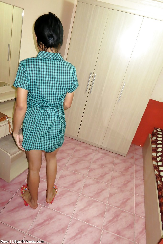 Slender Asian TGirl Dow Gets Barebacked While Wanking Off Shaved Tool