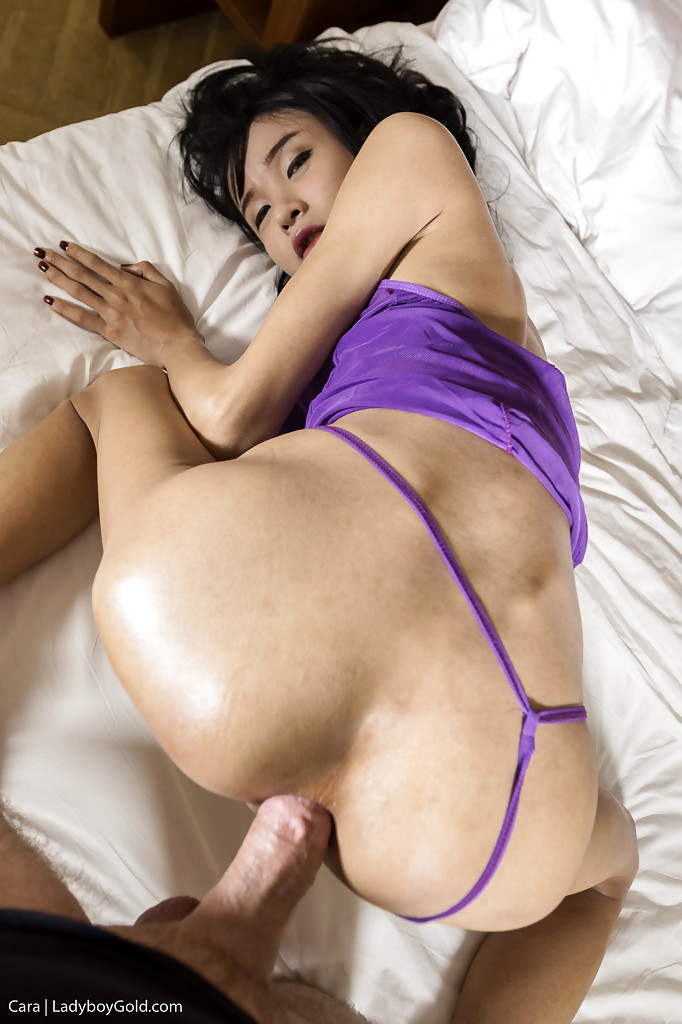 Slim Brunette Thai Transexual Ass-Hole Ruined By Dude With Large Penis