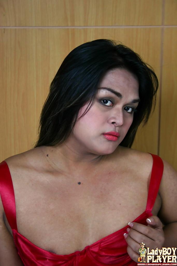 Solo Brunette Tgirl Jasmin Jerking Hairy Tool In Fishnet Stockings